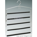 Metal Foam Covered 5 Tiers Multi Pant Hanger MFMPH501
